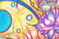 Pink and blue Lotus design